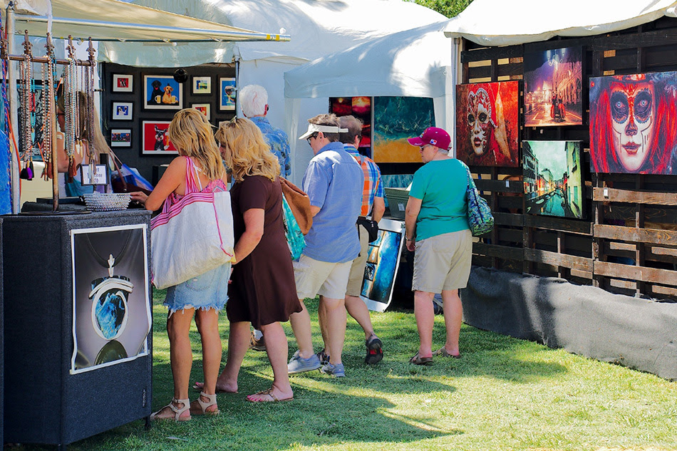 This image is from Vandergriff park from a local art event as a weekend family activity.